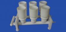 Фильтродержатели вакуумные, многоместные с наливной емкостью для мембранных фильтров 47 мм