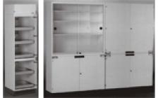 Шкафы для посуды, реактивов, вспомогательных материалов
