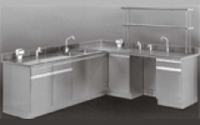 Столы лабораторные химические с бесшовной рабочей поверхностью и коммуникациями из полимер-керамики