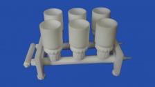 Фильтродержатели вакуумные, многоместные с наливной емкостью для мембранных фильтров 47 мм (Хим. стойкий полимер)