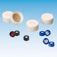 Крышка (защёлка) 11 мм, с отверстием, с септой (силикон /PTFE) (100 шт.), ND11